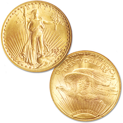 Image for 1922-S Gold $20 Saint Gaudens Double Eagle from Littleton Coin Company