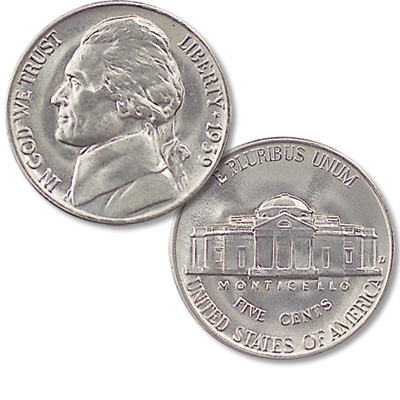 Image for 1939-D Jefferson Nickel from Littleton Coin Company