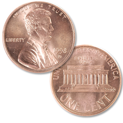 Image for 1998-D Lincoln Head Cent from Littleton Coin Company
