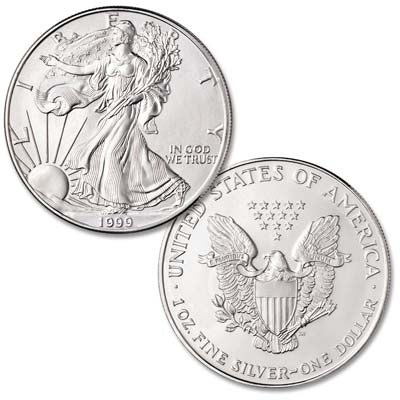 Image for 1999 $1 Silver American Eagle from Littleton Coin Company