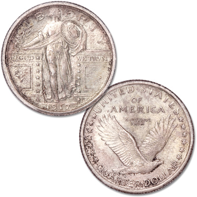 Image for 1917 Standing Liberty Silver Quarter, Variety 1 from Littleton Coin Company
