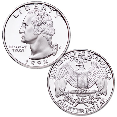 Image for 1998-S Silver Washington Quarter from Littleton Coin Company
