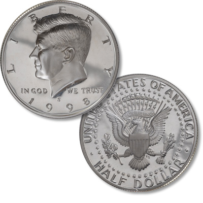 Image for 1998-S Kennedy Half Dollar, 90% Silver, Proof from Littleton Coin Company