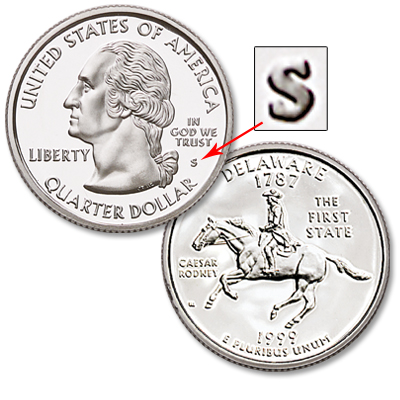 Image for 1999-S Delaware Statehood Quarter, Choice Proof, PR63 from Littleton Coin Company