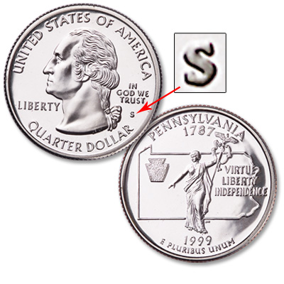 Image for 1999-S Pennsylvania Statehood Quarter from Littleton Coin Company