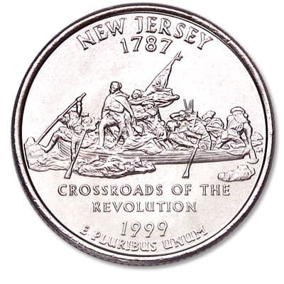 Image for 1999-P New Jersey Statehood Quarter, Uncirculated, MS60 from Littleton Coin Company