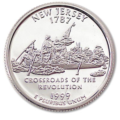 Image for 1999-S 90% Silver New Jersey Statehood Quarter from Littleton Coin Company