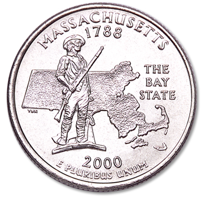 Image for 2000-P Massachusetts Statehood Quarter from Littleton Coin Company