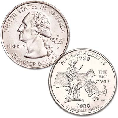 Image for 2000-D Massachusetts Statehood Quarter from Littleton Coin Company