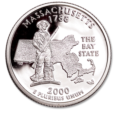 Image for 2000-S Massachusetts Statehood Quarter from Littleton Coin Company