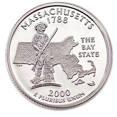 Image for 2000-S 90% Silver Massachusetts Statehood Quarter from Littleton Coin Company