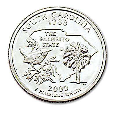 Image for 2000-S South Carolina Statehood Quarter from Littleton Coin Company