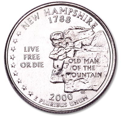 Image for 2000-P New Hampshire Statehood Quarter from Littleton Coin Company