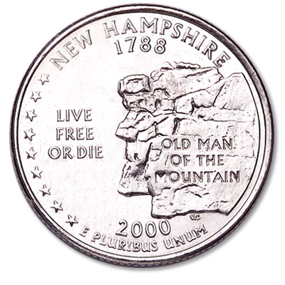 Image for 2000-D New Hampshire Statehood Quarter from Littleton Coin Company