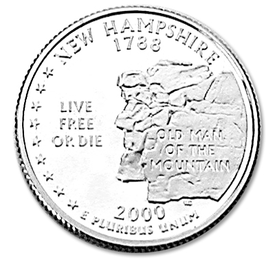 Image for 2000-S New Hampshire Statehood Quarter, Choice Proof, PR63 from Littleton Coin Company