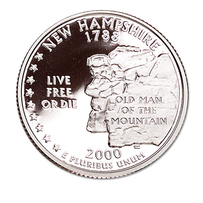 Image for 2000-S 90% Silver New Hampshire Statehood Quarter from Littleton Coin Company