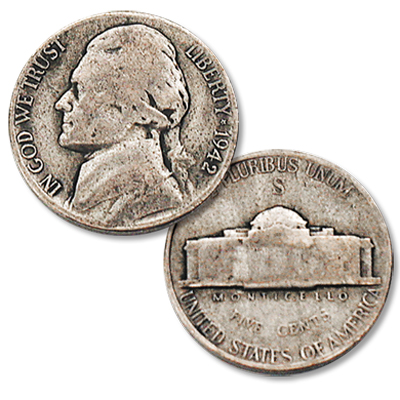 Image for 1942-S Jefferson Wartime Silver Alloy Nickel from Littleton Coin Company