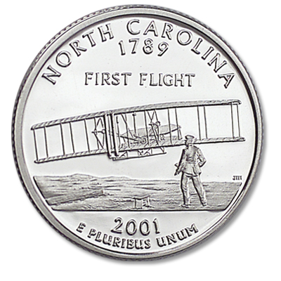 Image for 2001-S North Carolina Statehood Quarter, Choice Proof, PR63 from Littleton Coin Company
