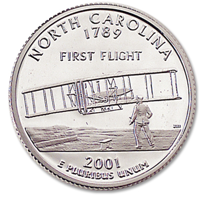 Image for 2001-S 90% Silver North Carolina Statehood Quarter, Choice Proof, PR63 from Littleton Coin Company
