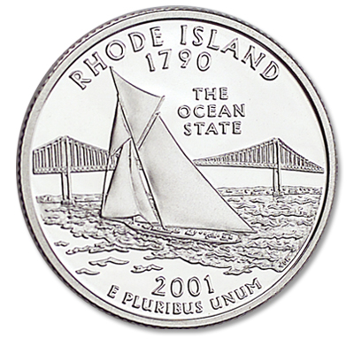 Image for 2001-S Rhode Island Statehood Quarter, Choice Proof, PR63 from Littleton Coin Company