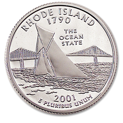 Image for 2001-S 90% Silver Rhode Island Statehood Quarter from Littleton Coin Company