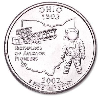 Image for 2002-P Ohio Statehood Quarter, Uncirculated, MS60 from Littleton Coin Company