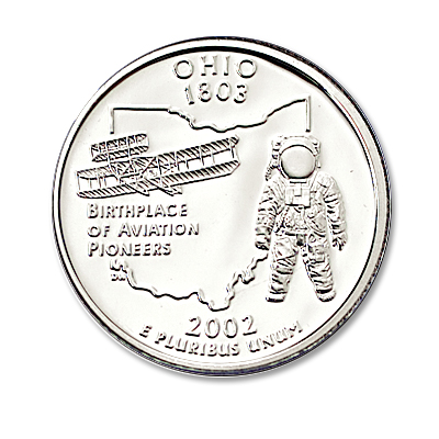 Image for 2002-S 90% Silver Ohio Statehood Quarter, Choice Proof, PR63 from Littleton Coin Company