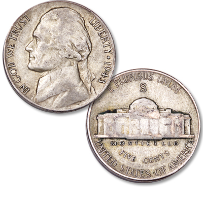 Image for 1943-S Jefferson Wartime Silver Alloy Nickel from Littleton Coin Company