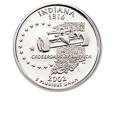 Image for 2002-S Indiana Statehood Quarter, Choice Proof, PR63 from Littleton Coin Company