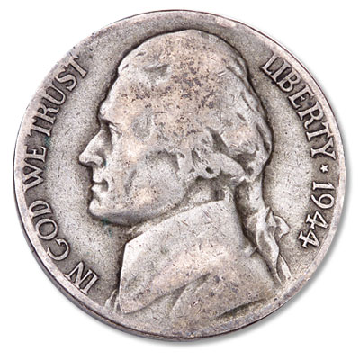 Image for 1944-P Jefferson Wartime Silver Alloy Nickel from Littleton Coin Company
