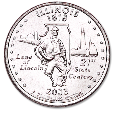 Image for 2003-P Illinois Statehood Quarter from Littleton Coin Company