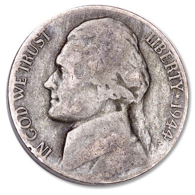 Image for 1944-D Jefferson Wartime Silver Alloy Nickel from Littleton Coin Company