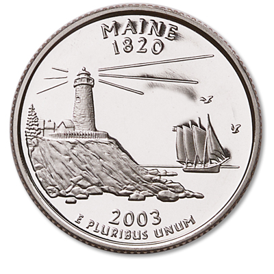 Image for 2003-S Maine Statehood Quarter, Choice Proof, PR63 from Littleton Coin Company
