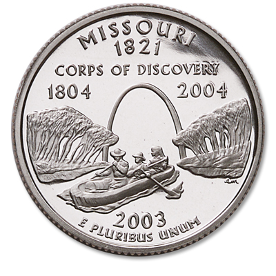 Image for 2003-S Missouri Statehood Quarter, Choice Proof, PR63 from Littleton Coin Company