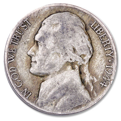 Image for 1944-S Jefferson Wartime Silver Alloy Nickel from Littleton Coin Company