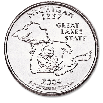 Image for 2004-P Michigan Statehood Quarter from Littleton Coin Company
