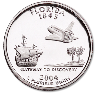 Image for 2004-S Florida Statehood Quarter from Littleton Coin Company