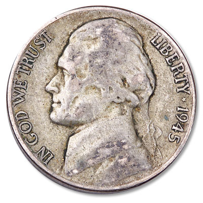 Image for 1945-P Jefferson Wartime Silver Alloy Nickel from Littleton Coin Company