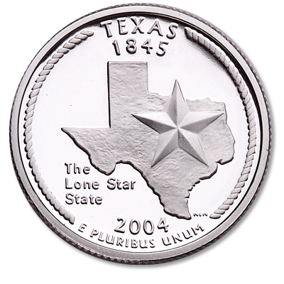 Image for 2004-S Texas Statehood Quarter, Choice Proof, PR63 from Littleton Coin Company