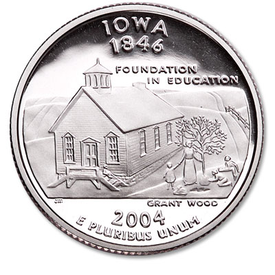 Image for 2004-S Iowa Statehood Quarter from Littleton Coin Company
