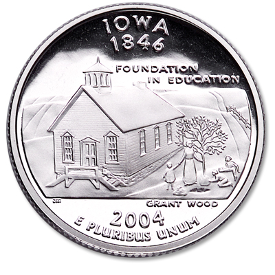 Image for 2004-S 90% Silver Iowa Statehood Quarter, Choice Proof, PR63 from Littleton Coin Company
