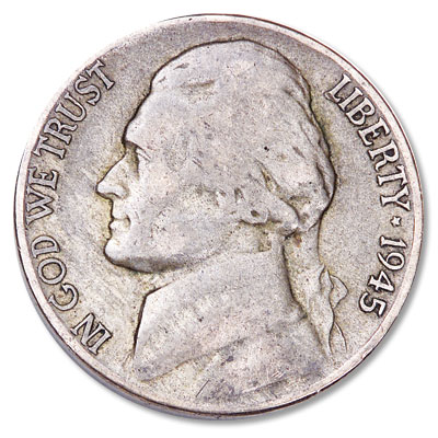 Image for 1945-D Jefferson Wartime Silver Alloy Nickel from Littleton Coin Company