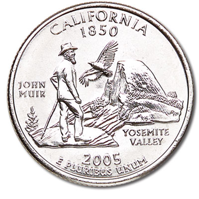 Image for 2005-D California Statehood Quarter, Uncirculated, MS60 from Littleton Coin Company