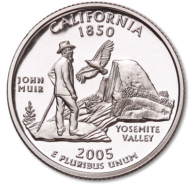 Image for 2005-S California Statehood Quarter, Choice Proof, PR63 from Littleton Coin Company