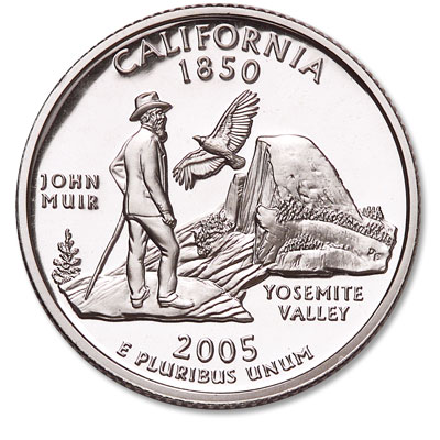 Image for 2005-S 90% Silver California Statehood Quarter, Choice Proof, PR63 from Littleton Coin Company
