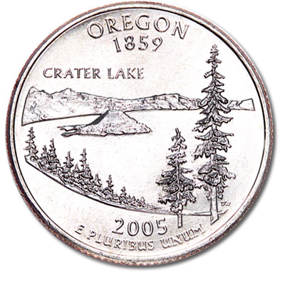 Image for 2005-D Oregon Statehood Quarter, Uncirculated, MS60 from Littleton Coin Company