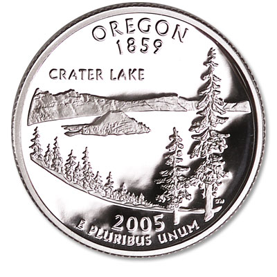 Image for 2005-S 90% Silver Oregon Statehood Quarter from Littleton Coin Company