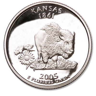 Image for 2005-S Kansas Statehood Quarter, Choice Proof, PR63 from Littleton Coin Company