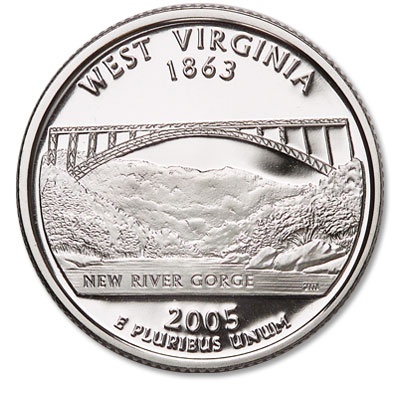 Image for 2005-S West Virginia Statehood Quarter, Choice Proof, PR63 from Littleton Coin Company