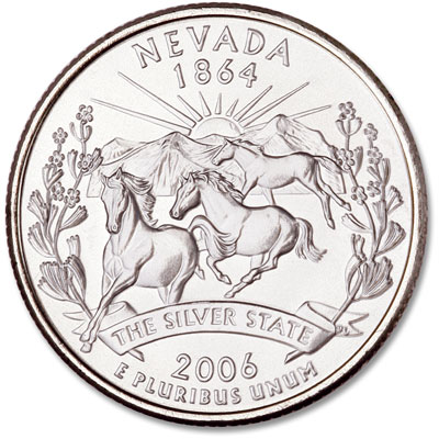 Image for 2006-D Nevada Statehood Quarter, Uncirculated, MS60 from Littleton Coin Company